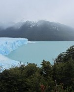 Ice calving from the glacier
